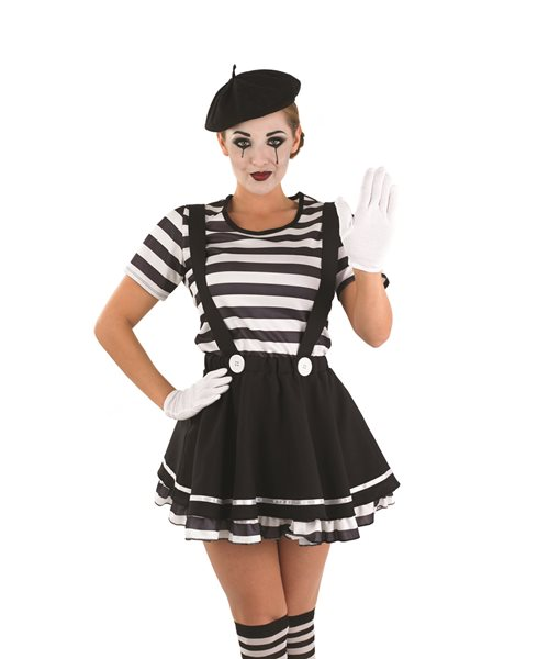 French Mime Costume Diy: FRENCH MIME ARTIST CIRCUS CLOWN