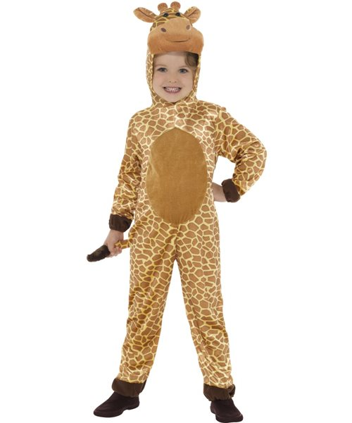Child Giraffe Jungle Safari World Book Week Fancy Dress Costume 10-12 years