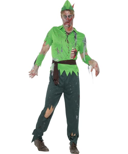 zombie lost boy peter pan halloween horror adults mens fancy dress costume