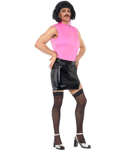 Queen Freddie Mercury Break Free Tarty Housewife Mens Fancy Dress Costume