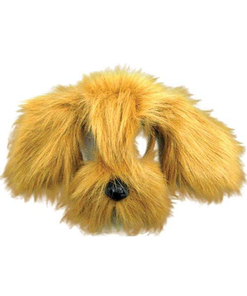 BROWN SHAGGY PUPPY DOG FURRY ANIMAL MASK Unisex Fancy Dress Costume Accessory