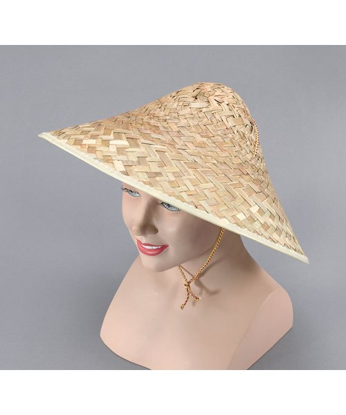Coolie Hat: CHINESE STRAW HAT COOLIE ORIENTAL HAT