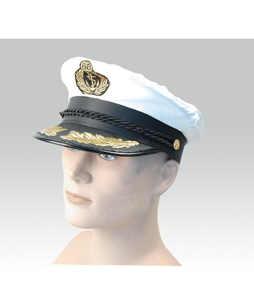 61a4eb8e0 Details about MILITARY DELUXE MARINE CAPTAIN'S HAT Mens Fancy Dress Costume  Accessory