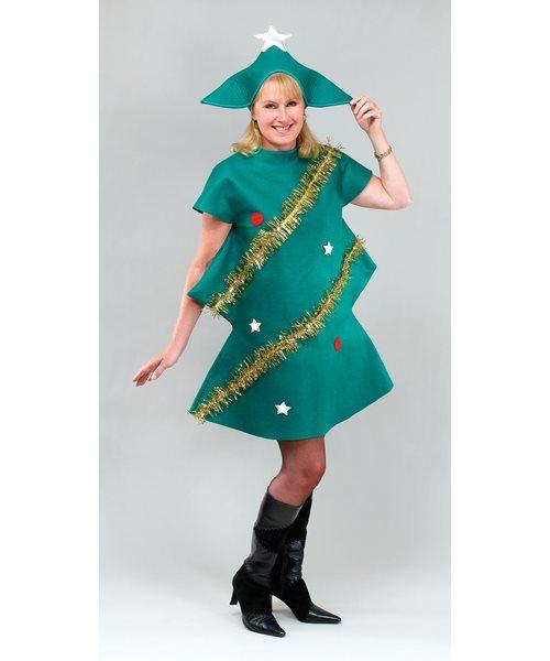 Christmas Tree Dress Costume: FESTIVE MERRY CHRISTMAS TREE TINSEL One Size Womens Ladies