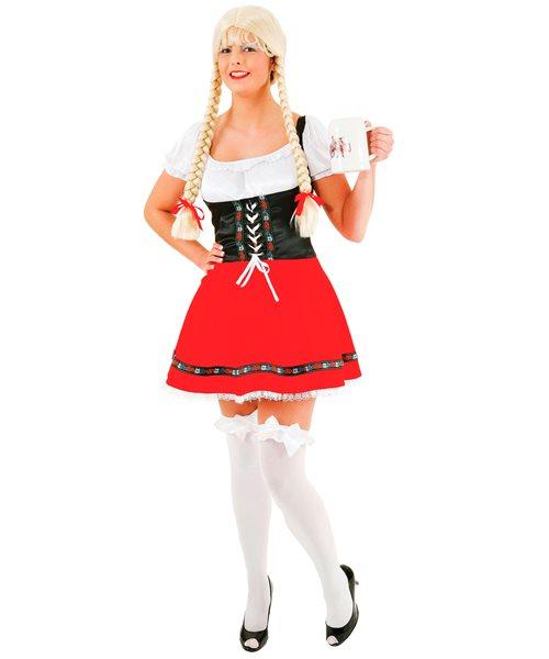 german oktoberfest beer girl size 16 18 womens ladies fancy dress costume ebay. Black Bedroom Furniture Sets. Home Design Ideas