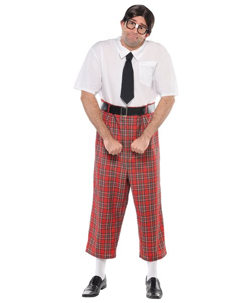 NERD GEEK SCHOOL BOY ADULT JUMPSUIT FUNNY one size - mens fancy dress costume | eBay