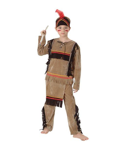 KIDS NATIVE INDIAN DELUXE TRIBAL BOY Age 3-10 Boys Child Fancy Dress Costume