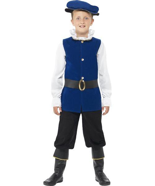 Tudor Boy Henry History Prince King Halloween Kids Fancy Dress Costume