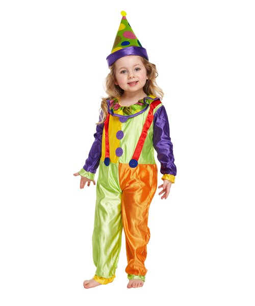 CLOWN CUTIE HARLEQUIN CIRCUS TODDLER Age 2-3 Girls Childs Fancy Dress Costume
