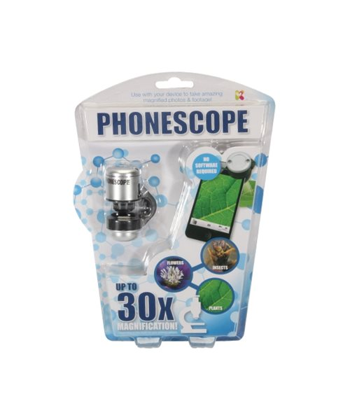 Phonescope Maginifies Phone Camera 30x Discovery Science Gift Toy Childs Kids