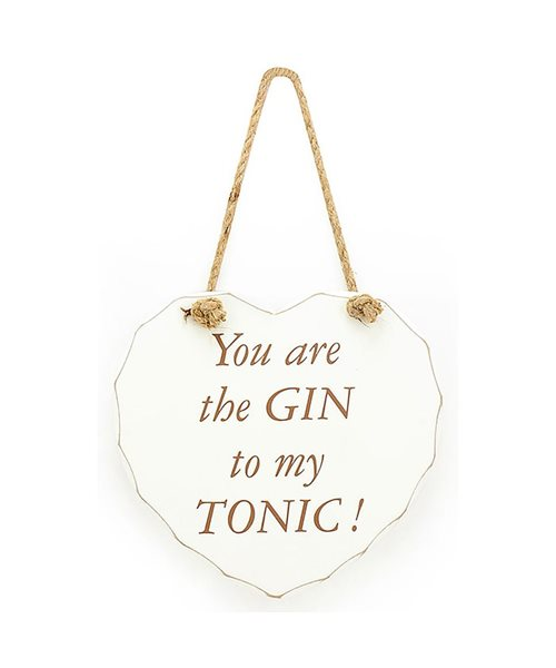 shabby chic gin lovers plaque sign decor item let the good times be gin