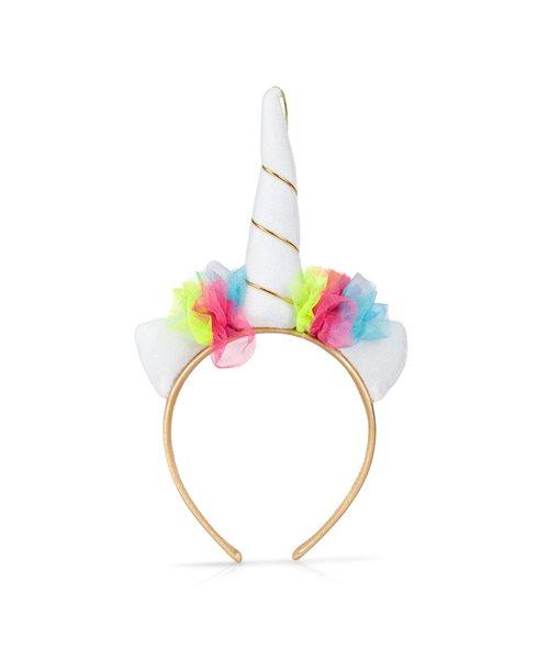 Unicorn Hair Band Flower Gold Horn Kids Childs Girls Cute Soft Dress Up Gift